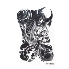 Large Removable Tattoo Skull Temporary Body Arm Sticker Waterproof Black Fashion