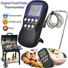 Digital Food Probe Oven Thermometer Timer Temperature Sensor Cooking Baking Zj