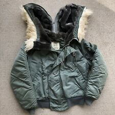 Vtg Alpha Industries N-2B Man's Flyer Parka Attached Hood Jacket Small Snorkel