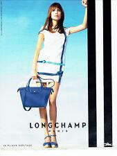 Publicité Advertising 088  2015   Longchamp  sac pliage Heritage