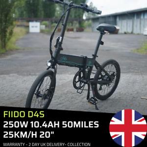 + FIIDO D4S + E-Bike 250W 10.4Ah 50mil 15.5M/H 20 Inch Folding Electric Bicycle