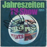 "PUHDYS  Jahreszeiten / TV-Show - 7"" Single Amiga 1982, Coverhülle 3fach SIGNIERT"
