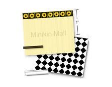 "1/4"" Scale Dollhouse Wallpaper & Flooring Set - Sunflower Surprise 1:48 quarter"