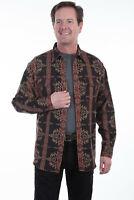Scully Men's 100% Cotton Aztec Long Sleeve Shirt TR-067