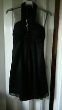 Lipsy Black Alter Neck Dress/ tunic, party or prom. Size 10