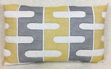 "John Lewis Afanon Fabric Cushion Cover 12""x20""  Citrine Embroidered Double Sided"