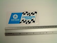 Chrysler Competitions Centre Stickr Decal Workshop Toolbox Garage retro car