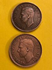 COIN AUSTRALIA 1947-1951 HALF PENNY GEORGIVS FREE SHIPPING