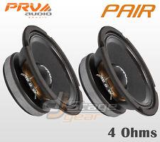 "Pair PRV Audio 6MB200-4 6.5"" Mid Bass 2x Woofers 4 Ohms Midbass Speaker PRV 6 in"