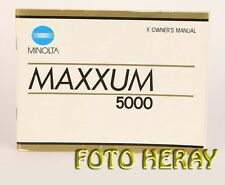 Minolta Maxxum 5000 Instructions Manual + Maxxum 5000 prospectus english 03158