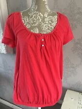 💗💗 Beautiful Coral Pink Next Summer Top Size 18 💗💗