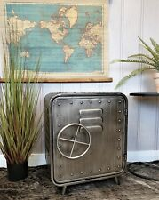 Industrial retro style metal bedside cabinet table cupboard unit home decor