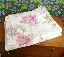 "Pair Pretty Pink/Purple/Green Lined Floral Curtains by DORMA 62""x 53"""