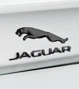 Glossy black Jaguar Logo Emblem Rear Badge Decal XF XJ XK XJR XJS E X S TYPE