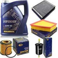 Inspektionspaket Filter Set MANNOL Defender 10W40 Motoröl+ VW Polo 10752503