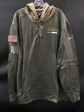 MIAMI DOLPHINS SALUTE TO SERVICE NIKE TEAM ISSUED SWEATSHIRT NEW W/TAGS MEDIUM