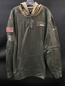 MIAMI DOLPHINS SALUTE TO SERVICE NIKE TEAM ISSUED SWEATSHIRT NEW W/TAGS 2XL