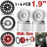 "1.9"" Metal Beadlock Wheel Rims For 1/10 RC Axial SCX10 CC01 D90 TRX-4 Crawler"