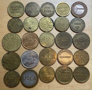 Lot of 25 Parking Tokens, mixed (Lot 237)