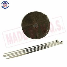 """Titanium Exhaust Header Heat Wrap Shield, 1"""" x 50' Roll With Stainless Ties Kit"""