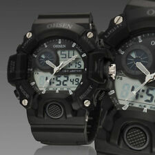 Ohsen G Sport Digital Military Water Proof Shock Calendar Men Watch Quartz Black