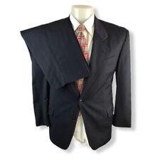 HUGO BOSS mens navy blue Pinstriped Suit 38S