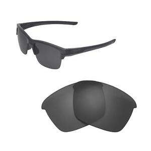 New Walleva Black Polarized Replacement Lenses For Oakley Thinlink Sunglasses