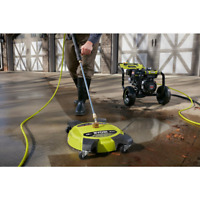 16in 3700PSI 2Nozzle Pressure Washer Surface Cleaner Wheel Portable Efficient