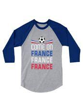 Come On France - Soccer Fans 3/4 Sleeve Baseball Jersey Toddler Shirt Team