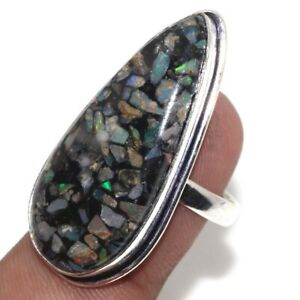 Copper Ethopian Opal Ethnic Handmade Ring Jewelry US Size-8 JW