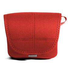Pentax K-x K-m D-SLR Camera Neoprene Body Soft Case Cover Pouch Protect Bag Red