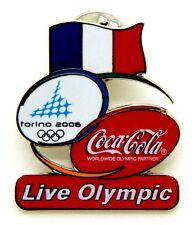 Pin Spilla Olimpiadi Torino 2006 - Coca-Cola Flag France