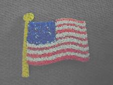 Vintage  Melted Plastic Popcorn  American Flag