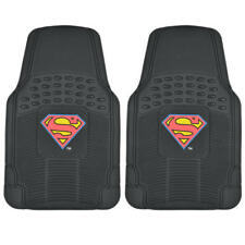 Superman Floor Mats for Car Heavy Duty All Weather Rubber Protection - Set of 2