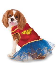 Dc Super Heroes Wonder Woman Pet Dog Cat Superhero Tutu Costume Dress