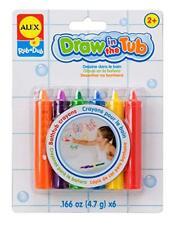 Draw in the Tub Rub a Dub Bath Crayons Drawing Fun Ages 2+ Set of 6 New