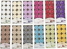 120x Mixed Coloured Tealight Scented Candles Living Rooms Hallways Kitchen