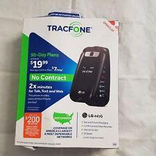 Tracfone LG 441G Prepaid Cell Phone Flip 2x Min + $99 Year Plan 800 Minutes