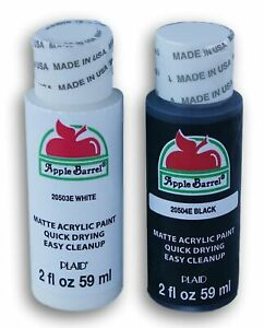 Apple Barrel Paint - Black and White