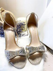 Kurt Geiger Carvella Diamante Sandals Heels Shoes UK5 Bridal Wedding Occasion