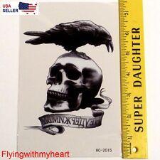 Large Demon Skull Blackbird The Land of Dead Waterproof Tattoo Stickers