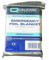 2x Premium Thermal Emergency Foil Blanket Camping First Aid Survival Mylar Solar