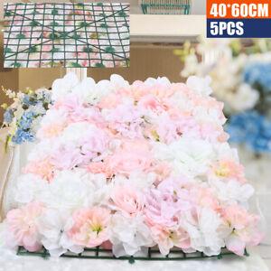 5 Stück Künstliche Blumenwand Rosenwand, DIY Hochzeit Straße und Dekoration