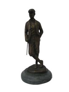 Statua bronzo golfista epoca seconda metà '900 - statuina fusione -