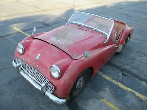 TRIUMPH TR3B RESTORATION PROJECT TCF SERIES CAR UK V5C MATCHING NUMBERS COMPLETE