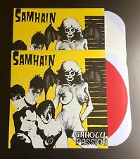 "Samhain Unholy Passion 12"" WHITE & RED 100 EACH Misfits Danzig Plan 9 KBD NEW"