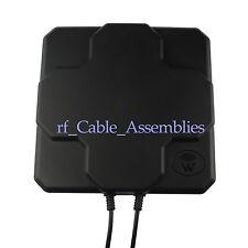 Black WiFi Outdoor 18dBi Dual Polarized Panel Antenna 5.8GHz 2x N Plug Connector