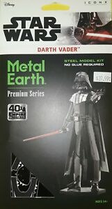 2020 DISNEY STAR WARS DARTH VADER PREMIUM SERIES 3-D ICONX METAL EARTH~BRAND NEW