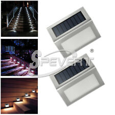 3 LED Solar Power Road Pathway Stair Dock Light Driveway Light Garden Path Lamp