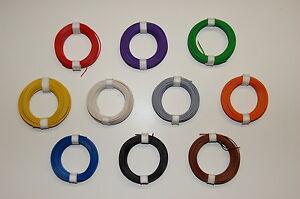 (0,16€/m) 1 Rollo Trenza de cobre Cable 0,14 mm² 10 m color su elección